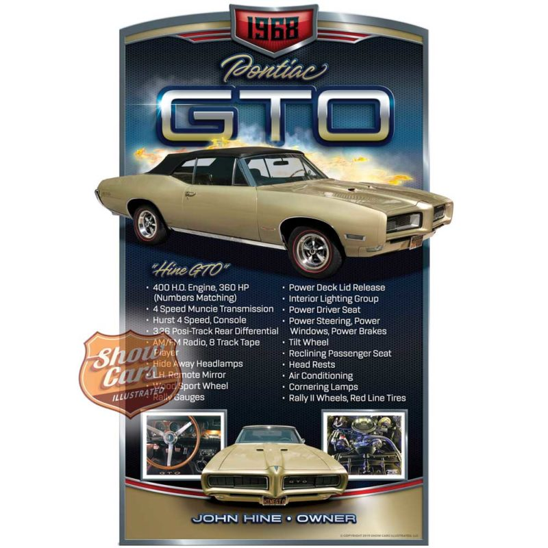 1968-Pontiac-GTO-Solid-Muscle-Theme-Show-Cars-Illustrated-Car-Show-Signs
