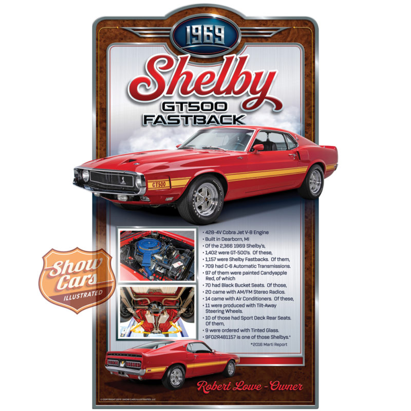 1969-Shelby-Fastback-Deco-Theme-Show-Cars-Illustrated-Car-Show-Signs