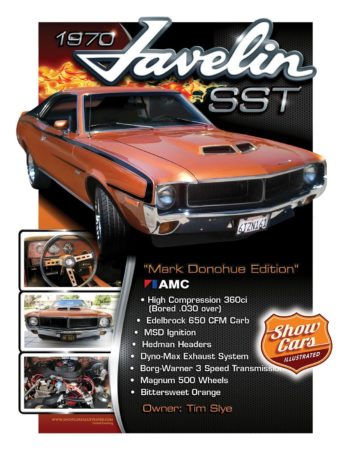 Custom Car Show boards Car-Show-Signs-Show-Cars-Illustrated-1970-Javelin-SST-AMC