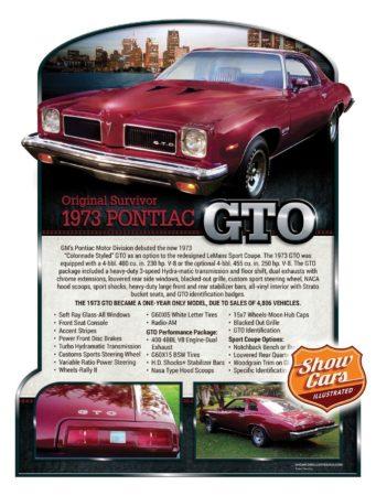 Custom Car Show boards Car Show Signs Show-Cars-Illustrated-1973-Pontiac-GTO