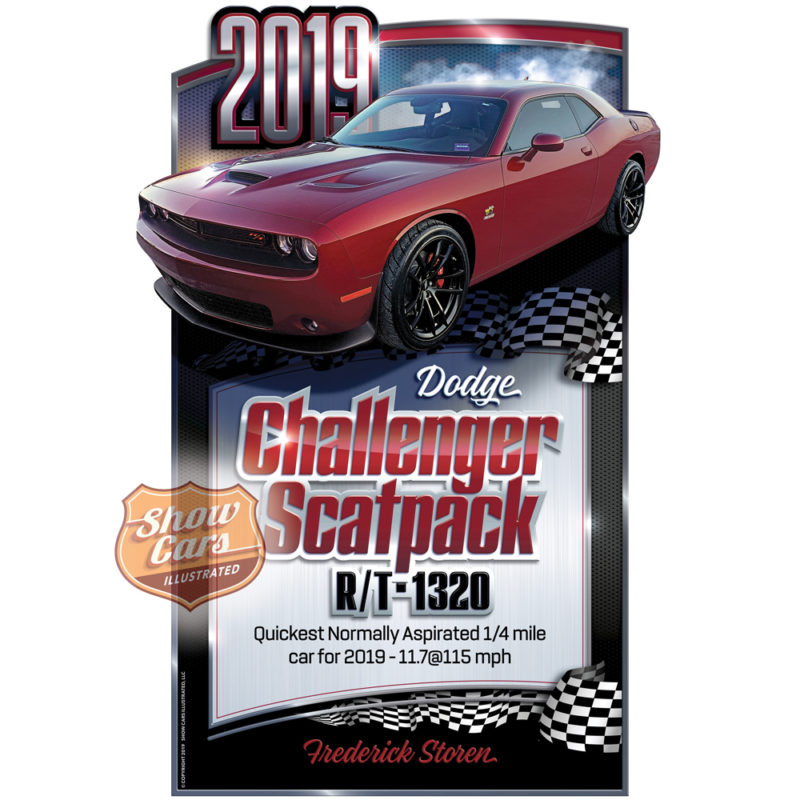 Stormer-Theme-Show-Cars-Illustrated-Car-Show-Signs-2019-Challenger-Scatpack