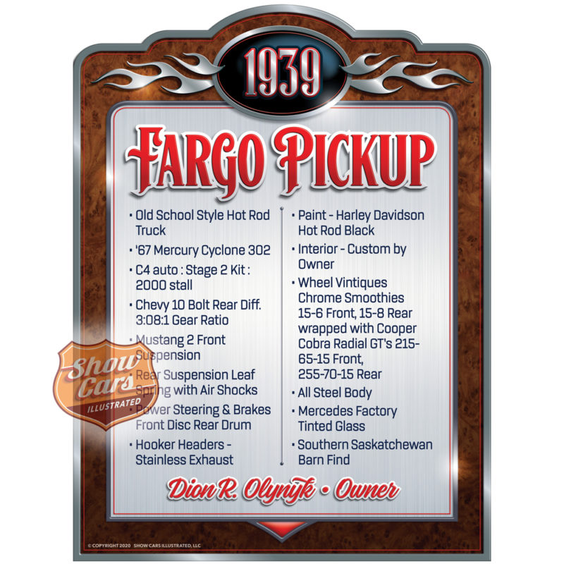 1939-Fargo-Pickup-Vintage-Theme-Show-Cars-Illustrated-Car-Show-Signs
