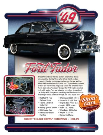 Car Show Signs Car Show Boards Classic Cars Muscle Cars 1949-Ford-Tudor