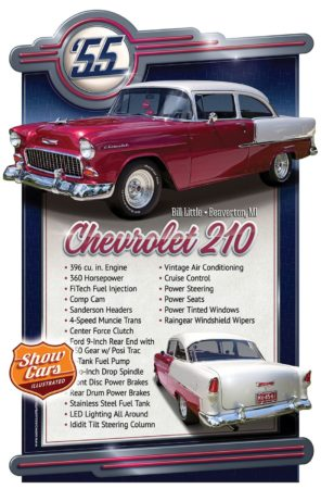 1955 Chevrolet 210 Car Show Signs Car Show Boards Classic Cars Muscle Cars
