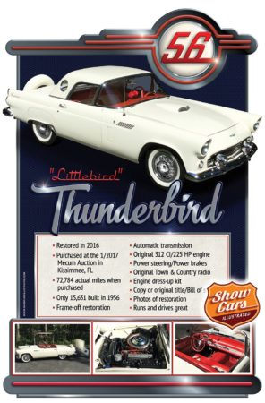 1956 Ford Thunderbird Car Show Signs Car Show Boards Classic Cars Muscle Cars
