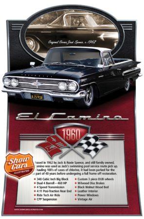 1960-El-Camino Custom Car Show Signs Car Show Boards Classic Cars
