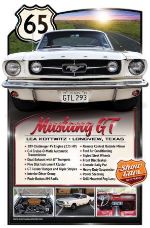 Car Show Poster Board Car Show Signs Car Show Boards 1965-Ford-Mustang-GT