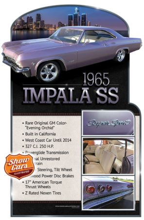 1965-Impala-SS Car Show Signs Car Show Boards Classic Cars Muscle Cars