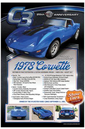 1978-Corvette-C3 Car Show Signs Car Show Boards