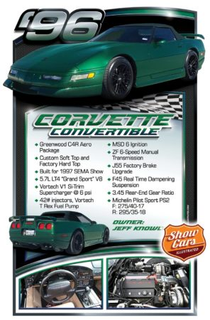 1996-Corvette-Convertible Car Show Signs Car Show Boards Classic Cars