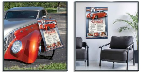 Aluminum Car Show Sign by Show Cars Illustrated